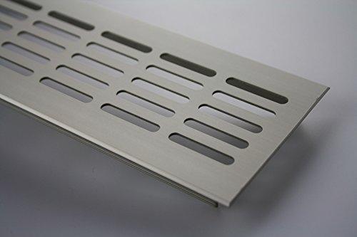 Griglia aerazione Piano a ponte Ventilazione in alluminio 80mm x 300mm in diversi colori - Acciaio inox anodizzato - E6C31