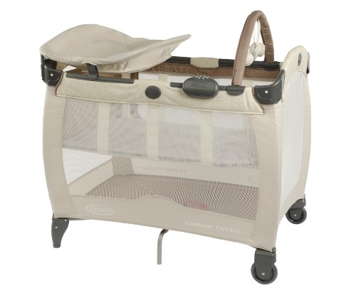 Graco Contour Electra Travel Cot (Brown, 0 - 36 Months)