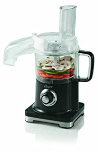 Oster FPSTFP4010-000 4-Cup Food Processor with Continuous Food Chute, Black