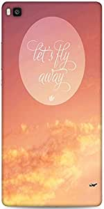 Snoogg Fly Away Abstract Quote Designer Protective Back Case Cover For Huawei...