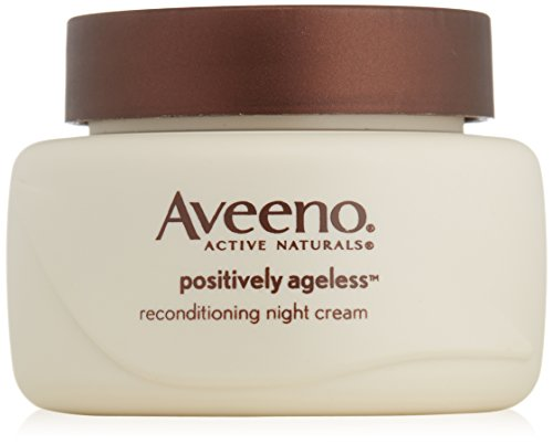 Aveeno Active Naturals Positively Ageless Night Cream with Natural Shiitake Complex, 1.7 Ounce (Aveeno Moisturizer Cream compare prices)