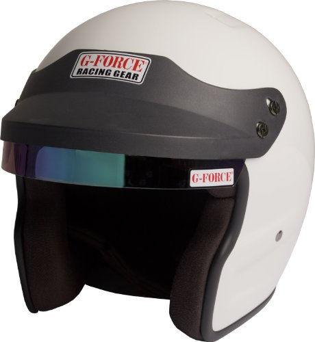 G-Force 3021LRGWH Pro Phenom White Large SA10 Open Face Racing Helmet (Open Face Racing compare prices)