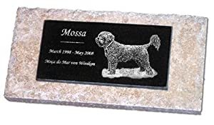 Personalized Custom Engraved Granite Pet Memorial Marker Gravestone Garden Stone Monument Markers Memorials Laser Etched w/ Photo Dog Cat Horse Pets MPV ~ by StoneArtUSA