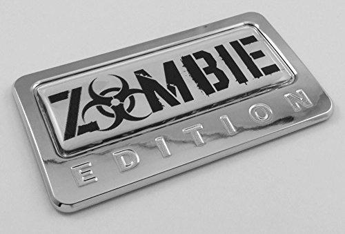 Car Chrome Decals CBEDI-ZOMBIE Zombie Edition Chrome Emblem with domed decal Car Auto motorcycle bike Badge (Chrome Motorcycle Badge compare prices)