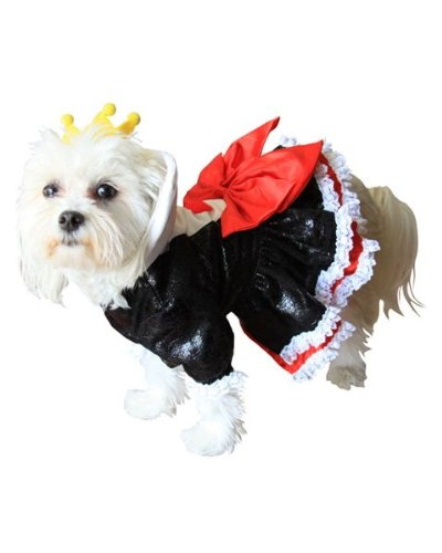 Queen of Hearts Dog Costume Size: Large