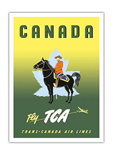canada-voler-par-tca-trans-canada-air-lines-gendarmerie-royale-du-canada-a-cheval-affiche-ancienne-v