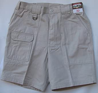 Cargo Shorts - Weekender Beverage Can Casual Work Utility Cotton Washed Twill Shorts in Stone - 38