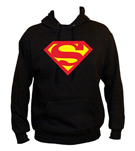 TRVPPY Uomo Maglione Felpa con Cappuccio Hoodie Sweater Modello SUPERMAN, diversi colori e taglia