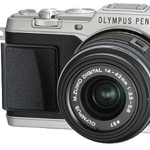 OLYMPUS マイクロ一眼 PEN E-P5 14-42mm レンズキット(ビューファインダー VF-4セット) シルバー E-P5 14-42mm LKIT SLV