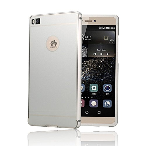 huge selection of 40ee7 9875e Huawei P8 Lite Case KuGi High quality ultra-thin Metal frame + PC Back Case  Cover for Huawei P8 Lite