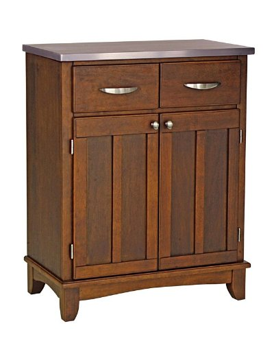Cheap Server Sideboard with Stainless Steel Top in Medium Cherry Finish (VF_HY-5001-0073)