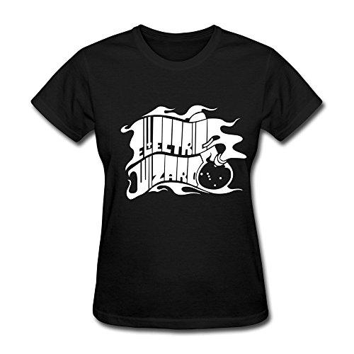 Sluggish min Women's Electric Wizard Logo T-shirt Black Tee