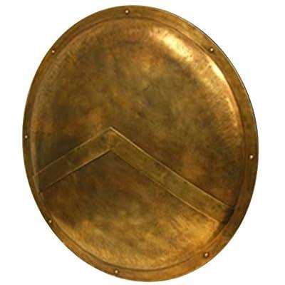 """300"" Spartan Shield Full Size Replica 36"" - Official Replica - Brass Antiqued"