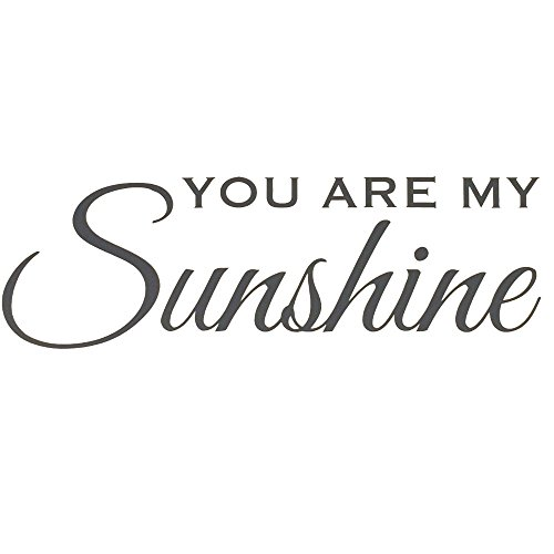You Are My Sunshine Wall Decal For Kids Rooms. Decoration Perfect In The Nursery.