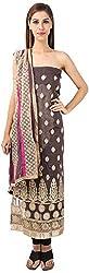 DESINER CLOTHLINE Women's Cotton Unstitched Dress Material (Cl-16, Peach)