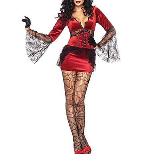 The Vampire Queen Costume Cosplay Costume Red Sexy Women's Costume