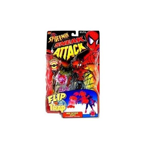 Spider-Man: The Animated Series Flip N Trap Web Catcher Spidey Negative Zone Action Figure