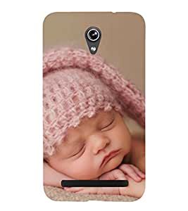 Cute Kid with Pink Cap 3D Hard Polycarbonate Designer Back Case Cover for Asus Zenfone Go ZC500TG (5 Inches)