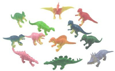 Mini vinyl DINOSAURS - 36 pc - Great party favors, stocking stuffers, cake decorations and more!