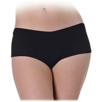 Amazon.com: Black Low-Rise Stretch Spandex Sexy Boy Short