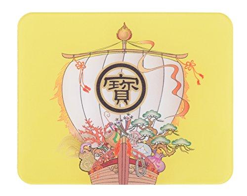 【メディア掲載多数】かわいい、おしゃれな印鑑マット【宝船】コンパクトサイズ 100mm×80mm