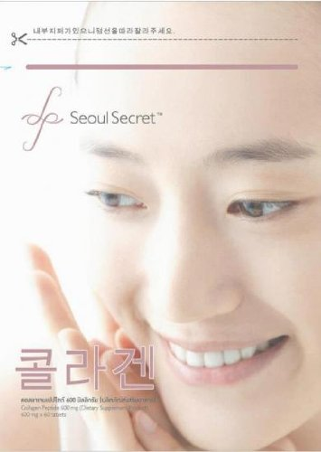 ''Enjoy Smile'' Seoul Secret Collagen Peptides And Proteins, Collagen, Pure 100% (60 Tablets).