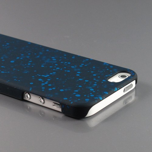 Zugadgets Black Series Sapphire Blue Dripping Raindrops Plastic Case Cover Shell For Apple New Iphone 5 5G 5Th Generation (7917-6)