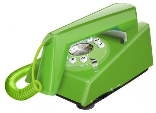 Geemarc Trimline Retro Style 2 Piece Corded Telephone - Green- UK Version image