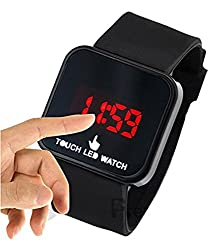 Evana Touch Screen Digital LED Digital Black Dial Unisex Watch_Touch to Display , Watches for Men Women (get free TTL/Trusttel Branded mobile pouch)