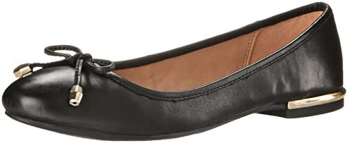 Aldo Women's LORALEE Ballerina, Black Leather, 9 B US