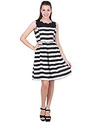 Ants Black & White Stripe Dress
