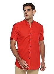 Wajbee Men's 100% Cotton Casual Half Shirt-L