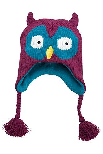 mountain-warehouse-owl-kids-winter-stalker-fleece-lined-ski-mountain-knitted-hat-wooly-wool-warm-tea