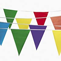 100 Foot Multicolor Pennant Banner by Jeirles Wholesale