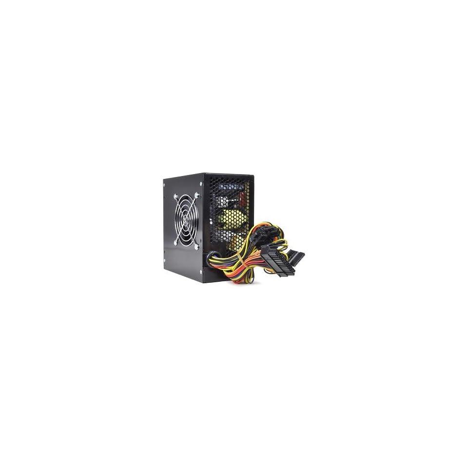 PoWork 650W 20+4 pin Dual Fan ATX Power Supply w/SATA & PCI E(Black)
