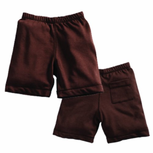 Babysoy Soft Shorts , Chocolate 6-12 Months front-644832