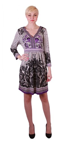 ECI New York Graphic Print Dress (2