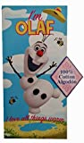 Frozen I'm Olaf Beach Towel I Love All Things Warm 100% Cotton