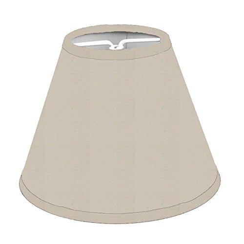 Paralumi per lampadario, confezione da 6 pezzi, con clip su anu piccola lampadina E27 o E14 (Cotone colore della pietra)
