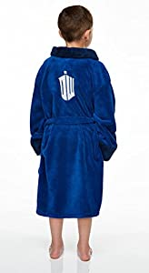 BBC TV Dr Who Tardis Fleece Dressing Gown Bath Robe (Kids/Child Sizes)