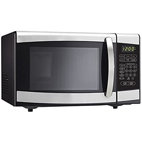 0.9 Cu. Ft. Countertop Microwave in Stainless Steel by Danby