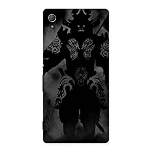 Ajay Enterprises Ghost Warrior Back Case Cover for Xperia Z3 Plus