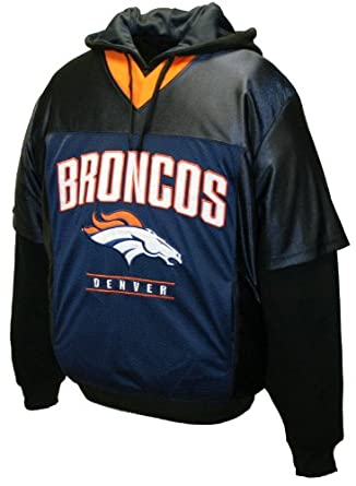 NFL Mens Denver Broncos Drive Pullover Jersey Hoodie by MTC Marketing, Inc