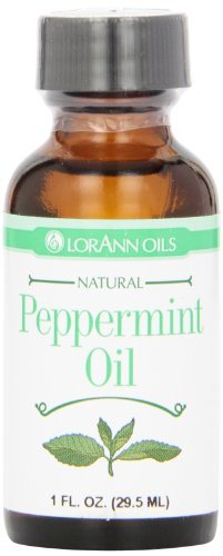 LorAnn Natural Flavoring Oils, Natural Peppermint Oil, 1 Ounce Bottle