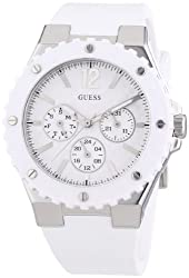 Guess Analog White Dial Womens Watch - W90084L1