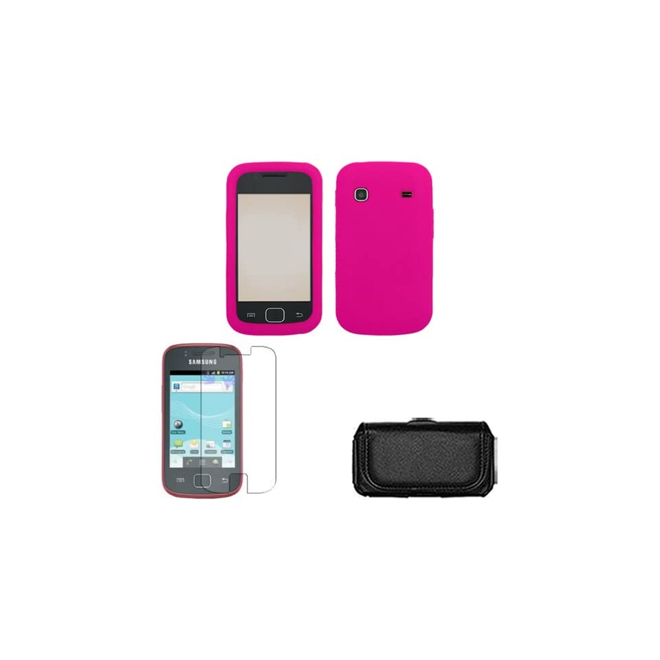 iFase Brand Samsung Repp R680 Combo Solid Hot Pink Silicon