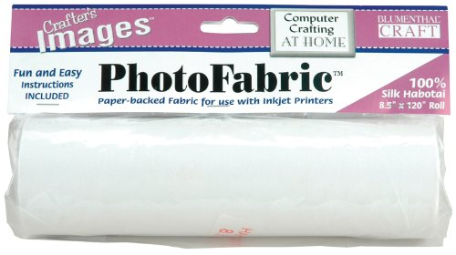 Blumenthal Lansing Crafter's Images 100-Percent Silk Habotai, 8-1/2-Inch by 120-Inch Roll Photo Fabric