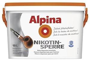 ALPINA Innenfarbe Nikotinsperre 10 L. weiß matt hochdeckend  BaumarktKundenbewertung und weitere Informationen