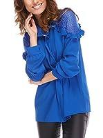 ELEGANCIA Blusa Boheme (Azul Tinta)