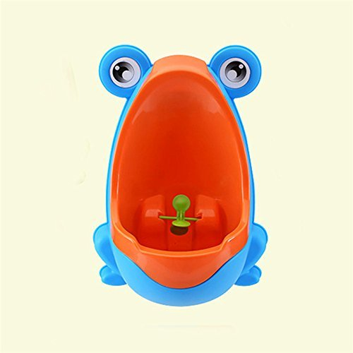 BS#S Stylish PP Frog Children Stand Vertical Urinal Wall-Mounted Urine Groove Baby Boy Potty Toilet Trainers Urinals (Blue) (Paw Patrol Potty Chart compare prices)